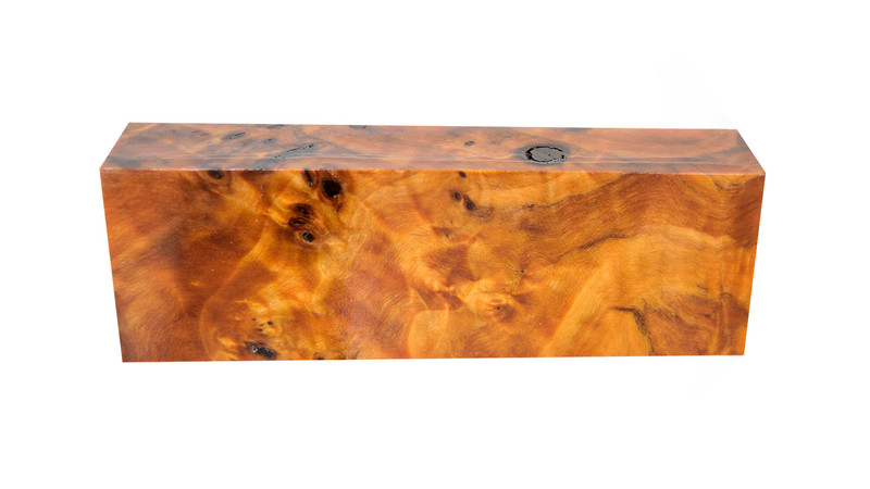 Poplar Burl Orange (stabilized)