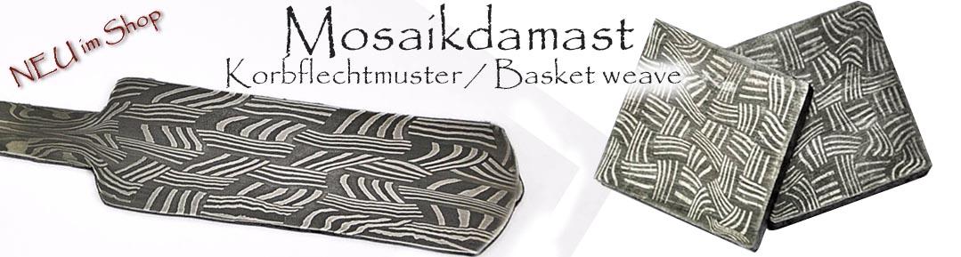 Mosaikdamast basket weave